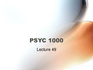 PSYC 1000