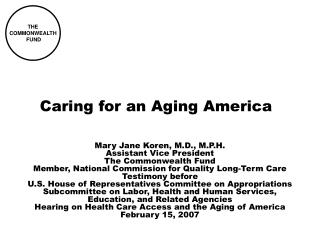 Caring for an Aging America
