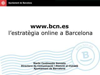 b cn.es  l'estratègia online a Barcelona