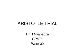 ARISTOTLE TRIAL