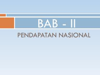 BAB - II