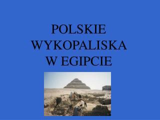 POLSKIE WYKOPALISKA  W EGIPCIE