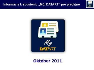 """Informácie k spusteniu """"Môj DATART"""" pre predajne"""