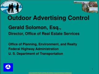 Outdoor Advertising Control