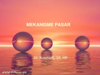 MEKANISME PASAR