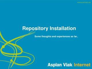 Repository Installation