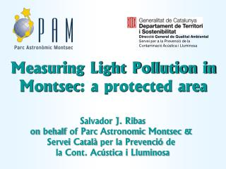 Measuring Light Pollution in  Montsec : a protected area
