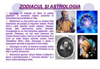 ZODIACUL  ŞI ASTROLOGIA