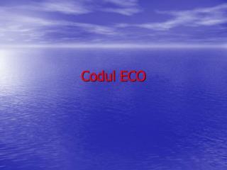 Codul ECO