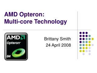 AMD Opteron:  Multi-core Technology