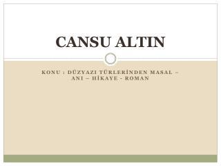 CANSU ALTIN
