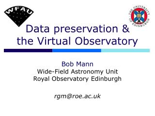 Data preservation & the Virtual Observatory