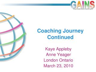 Coaching Journey Continued