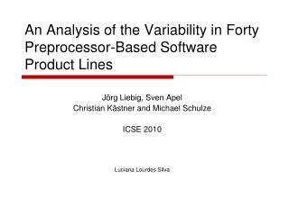 An Analysis of the Variability in Forty Preprocessor-Based Software Product Lines
