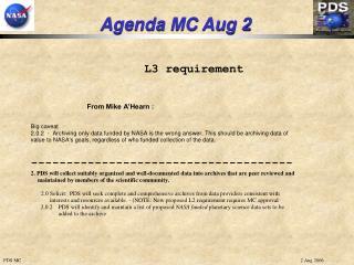 Agenda MC Aug 2