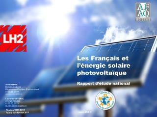 Les Fran ais et l  nergie solaire photovolta que  Rapport d  tude national