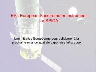 ESI: European Spectrometer Instrument  for SPICA