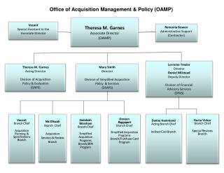 Theresa M. Garnes Associate Director (OAMP)