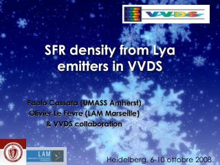 SFR density from Lya emitters in VVDS