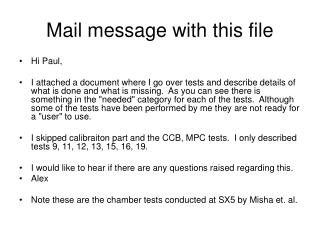 Mail message with this file