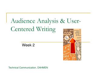 Audience Analysis & User-Centered Writing
