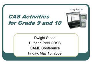CAS Activities  for Grade 9 and 10