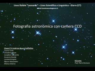 Fotografia astronomica con camera CCD