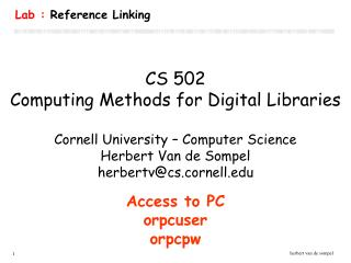 Lab :  Reference Linking