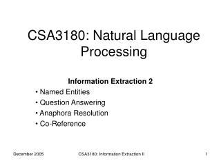 CSA3180: Natural Language Processing