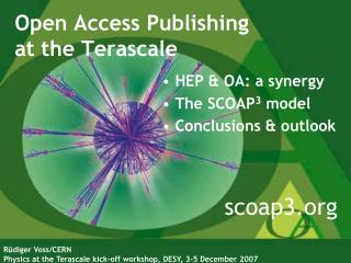Open Access Publishing  at the Terascale