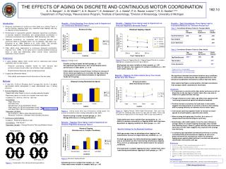 THE EFFECTS OF AGING ON DISCRETE AND CONTINUOUS MOTOR COORDINATION