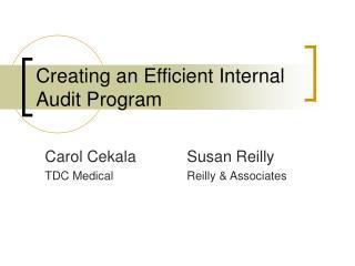 Creating an Efficient Internal Audit Program
