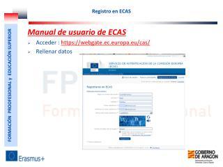 Registro en ECAS