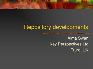 Repository developments
