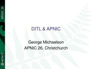 DITL & APNIC