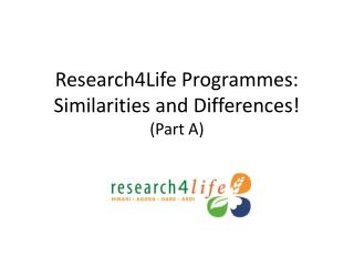 Research4Life Programmes: Similarities and Differences! (Part A)