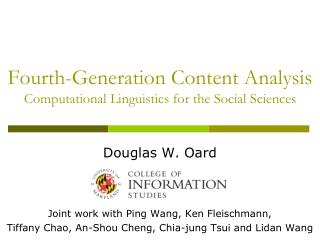 Fourth-Generation Content Analysis Computational Linguistics for the Social Sciences