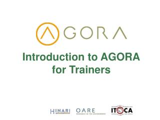 Introduction to AGORA for Trainers