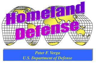 Peter F. Verga U.S. Department of Defense