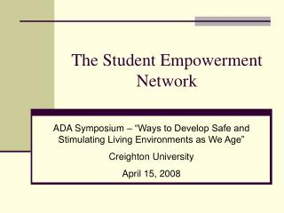 The Student Empowerment Network