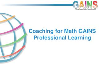 Coaching for Math GAINS Professional Learning