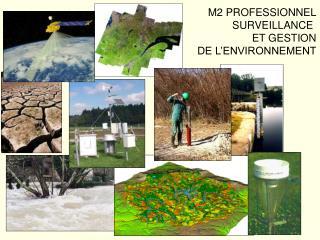 M2 PROFESSIONNEL SURVEILLANCE  ET GESTION DE L'ENVIRONNEMENT