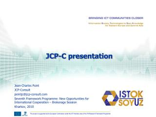 Jean-Charles Point JCP-Consult pointjc@jcp-consult
