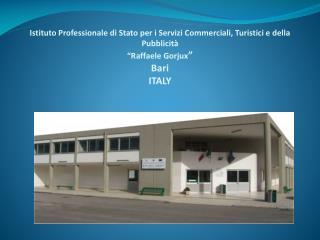 Via Raffaele Bovio, n. 1 - 70126 BARI - Italy