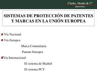 SISTEMAS DE PROTECCIÓN DE PATENTES Y MARCAS EN LA UNIÓN EUROPEA