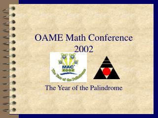 OAME Math Conference 2002