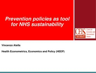 Prevention policies as tool for NHS sustainability