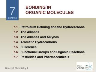 BONDING IN ORGANIC MOLECULES
