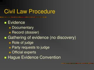 Civil Law Procedure