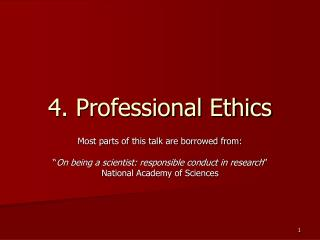 4. Professional Ethics